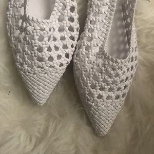 Brand New. White Summer Flats
